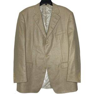 Samuelsohn Silk Wool Sport Coat 44 Tall/Long